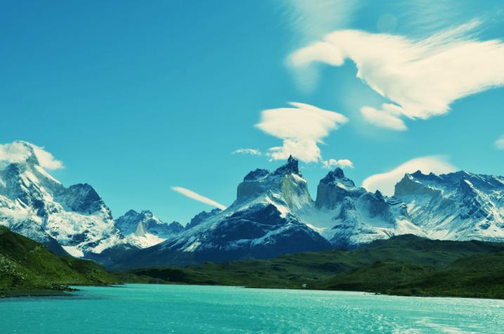 Turquoise blue lakes