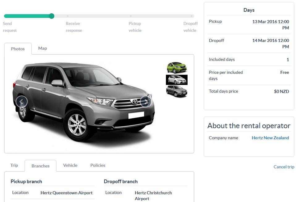 Relocation Car Auto Auswahl Neuseeland