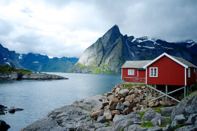 Hütte Skandinavisches Fjord