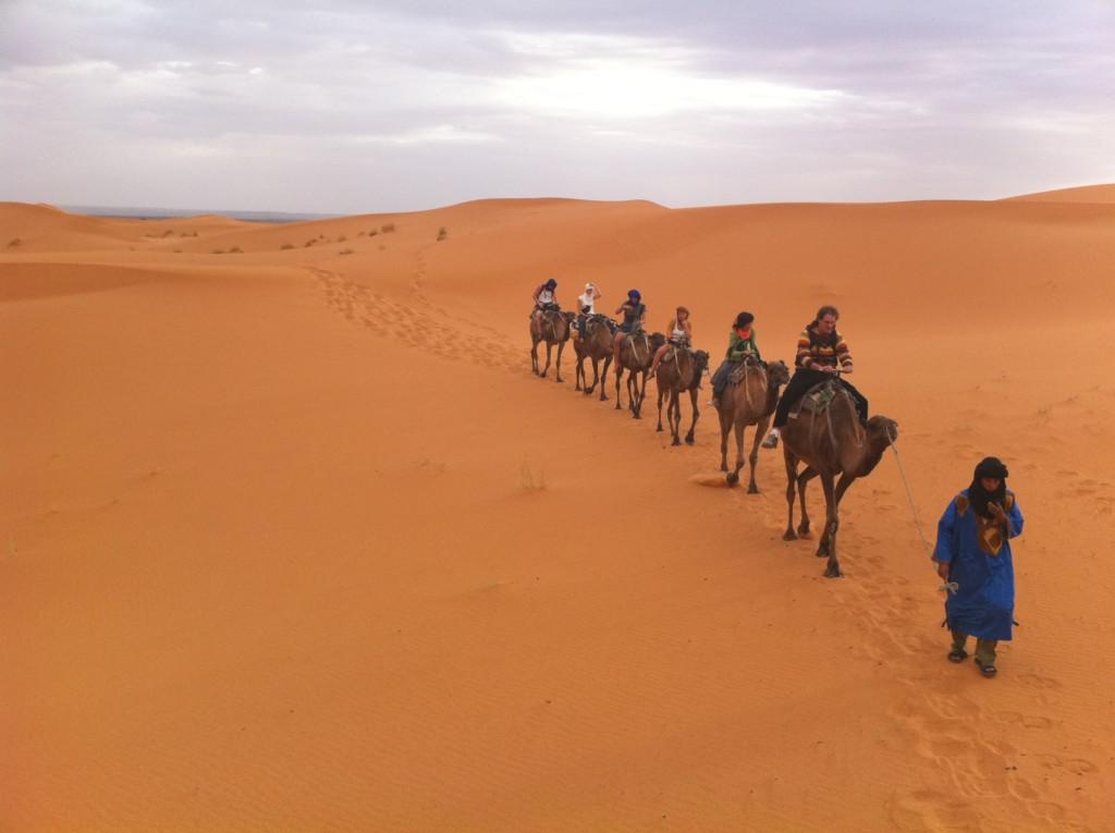のりこさんの宿から、サハラ砂漠1泊2日のラクダツアーに参加