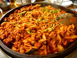 Dak Galbi is a typical Korean student meal!