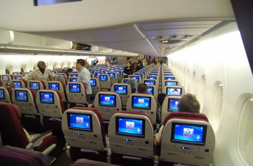 Malaysia Airlines A380 economy lower deck