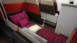 Malaysia Airlines lie-flat beds onboard their A380s