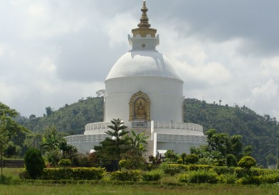 Pokhara's Peace Pagoda