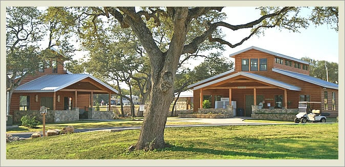 There are cottages at La Hacienda RV Resort & Cabins, and places to camp your RV. They say the ghosts are just a little bit weirder in Austin, Texas.