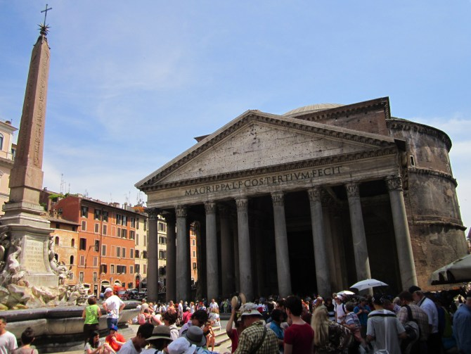 The Pantheon, a church that was previously a temple