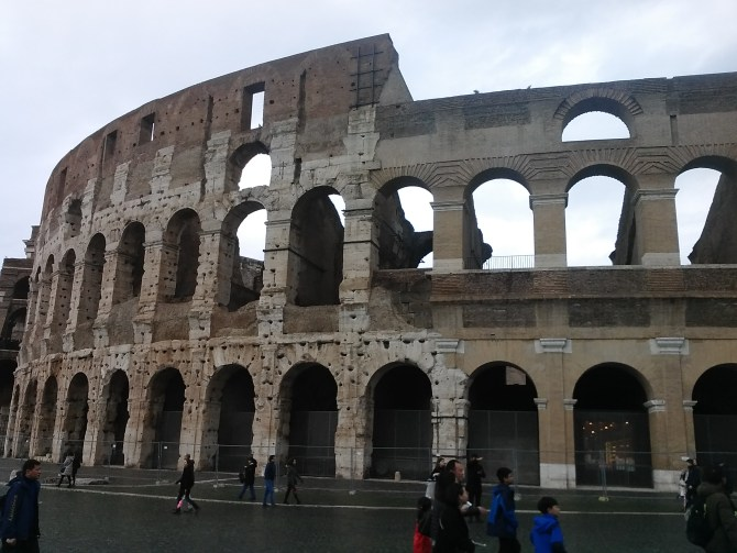 We of course walked by the Colosseum again