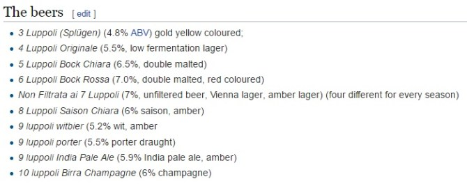 The styles, according to Wikipedia