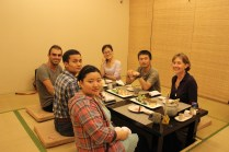 Corrina, Shun, Gianna, me, Leo & Aleen @ Asahi's Japanese restaurant