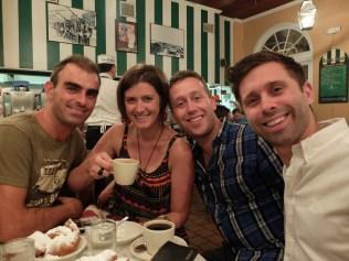 Havin' the world famous beignets @ Cafe Du Monde in Decatur.