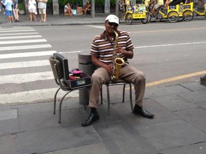 Street performer in French Quarter
