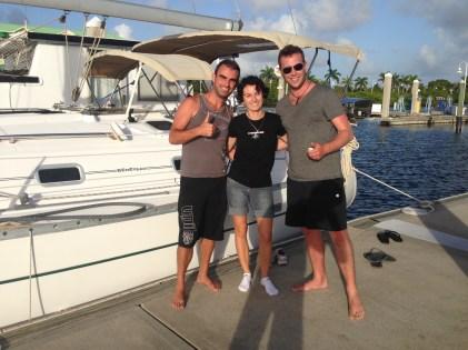 Yana showing us around on her boat 'SV Jaffo'