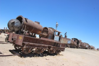 Uyuni's old train cemetery