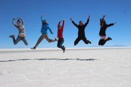 Barbara, Coos, Marcia, me & Ulricke @ Salar De Uyuni