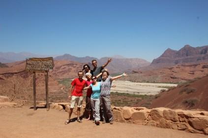 With Damien, Laura, Wancy, Virginie & Pauline in Quebrada de Cafayate