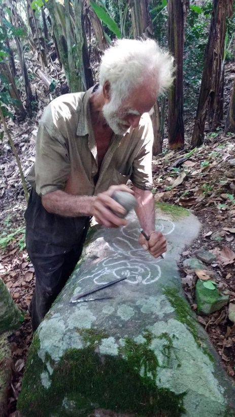 Carving using 30 year old tools