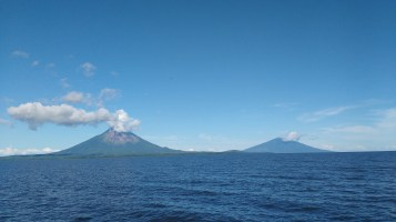 Isand volcanoes from the ferry