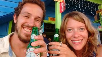First drink as married folk