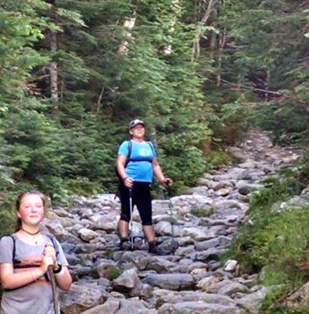 Leigh and Cora Trail up