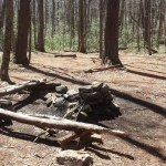 Nipmuck Trail Campsite fire ring