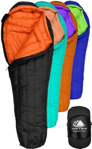 Hyke & Byke Eolus 0 Degree F 800 Fill Power Hydrophobic Goose Down Sleeping Bag review