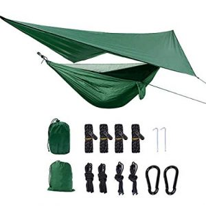 XIANGBAN Camping Hammock with Mosquito Net and Rainfly Tarp Portable Lightweight review