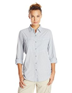 ExOfficio Women's BugsAway Halo Check Long-Sleeve Shirt