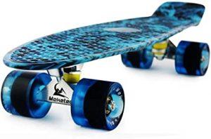 Meketec Skateboards Complete 22 Inch Mini Cruiser Retro Skateboard