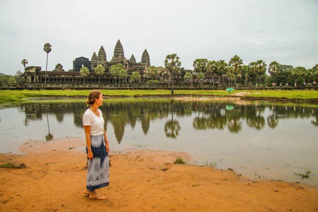 Sunrise at Angkor Wat in rainy season