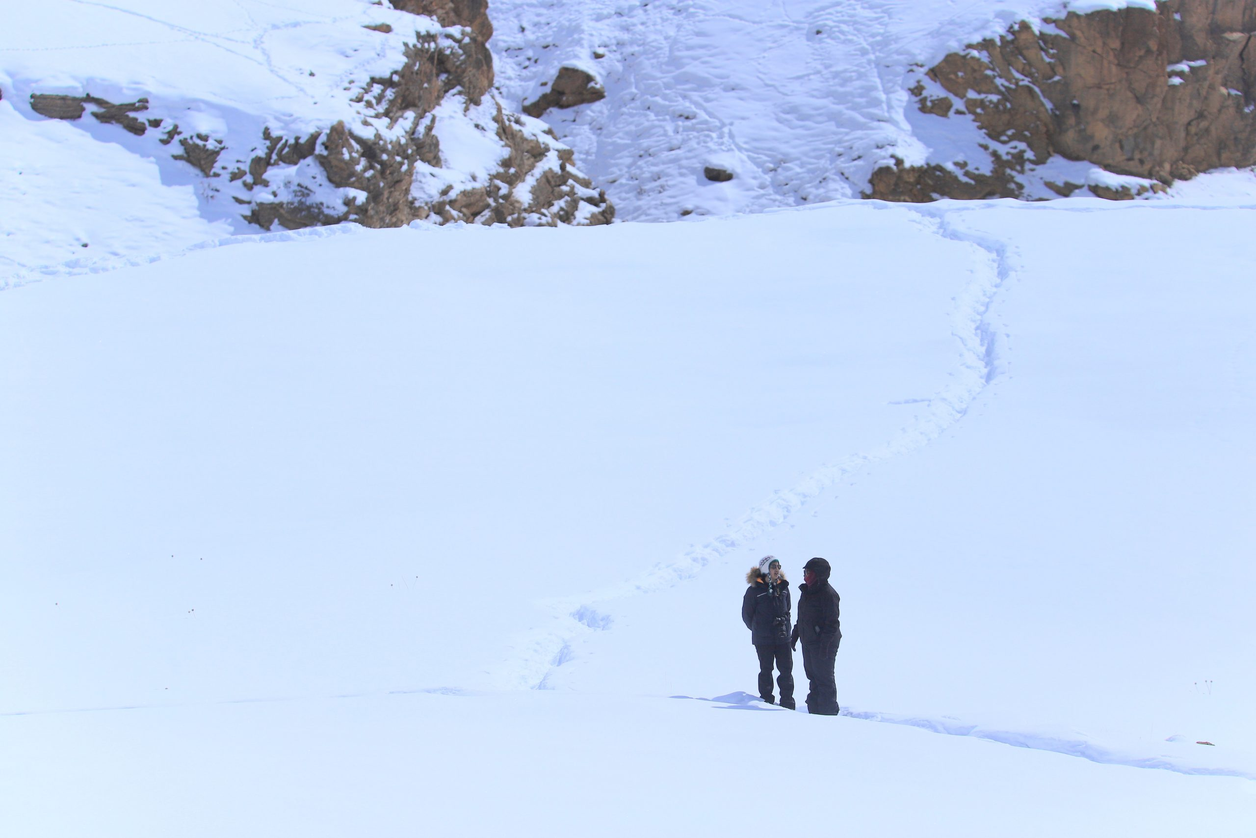 kibber snow walk spiti valley