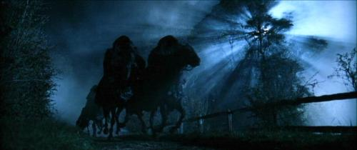 Girls Who Travel | Men in billowing, black cloaks ride black horses under the moonlight. The Dark Riders from the Lord of the Rings Trilogy