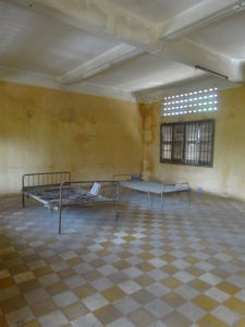 Girls Who Travel | beds at Tuol Sleng