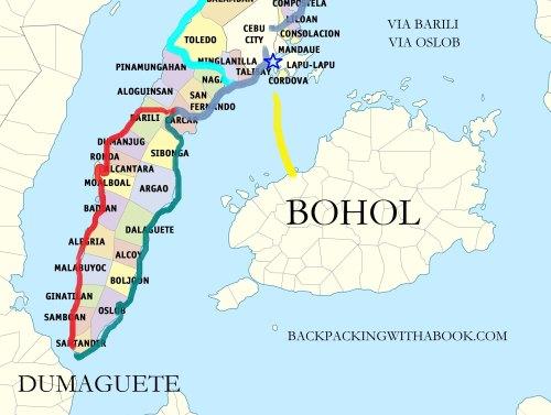 Southern Cebu Bus Route Map