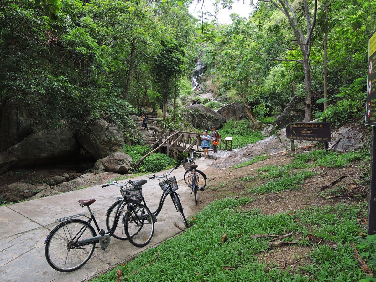 BIKING TO THE WATERFALL