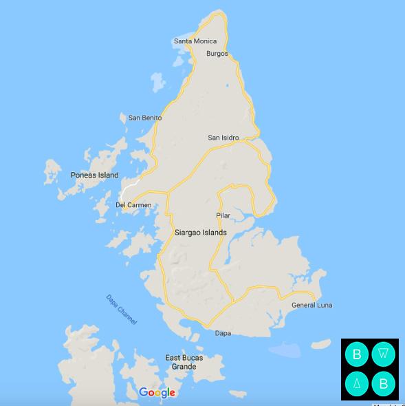 SIARGAO ISLAND MAP