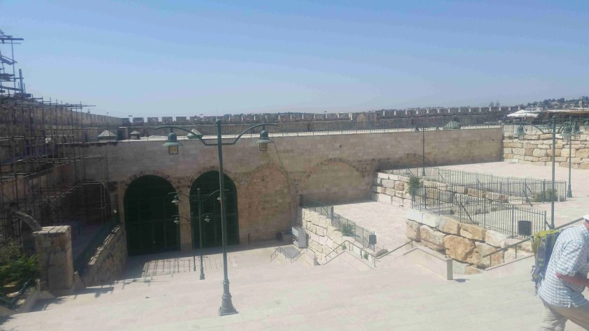 The area dug by the Waqf on Temple Mount