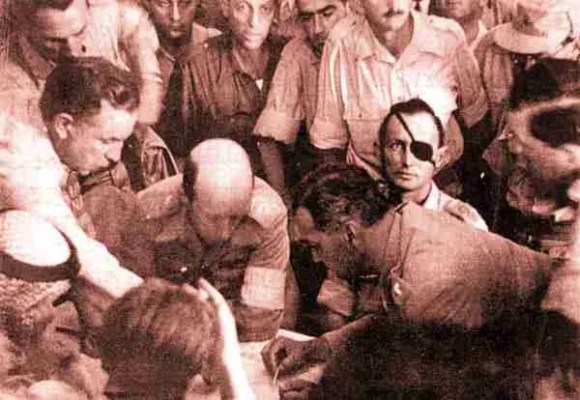 The Signing on the Jordan-Israeli Agreement in November 1948
