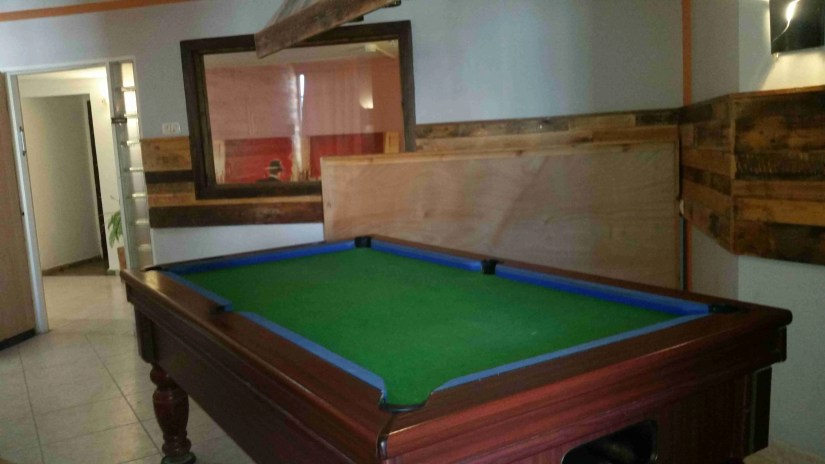 The billiard table (forgot to photograph the balls)