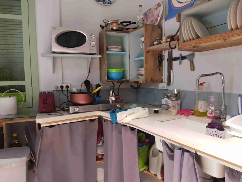 Part of the kitchen