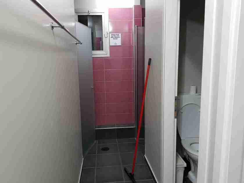 Women's bathroom in Little Tel-Aviv Hostel