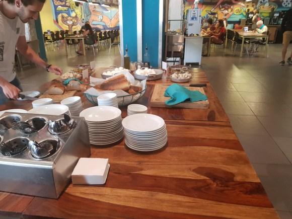 Breakfast at Abraham Hostel Tel Aviv