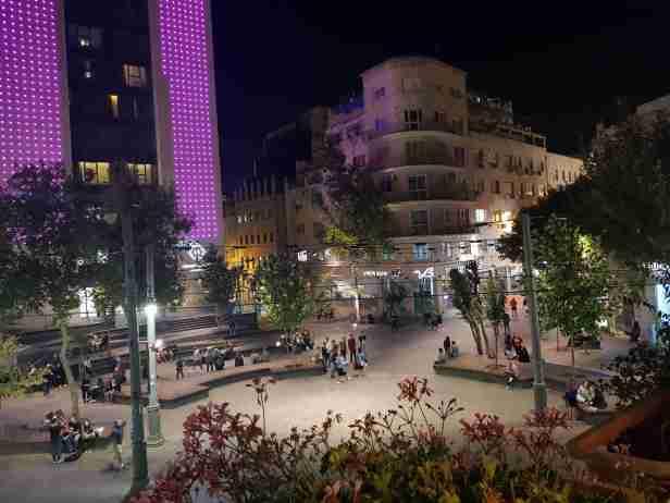 Zion Square from Jerusalem Hostel
