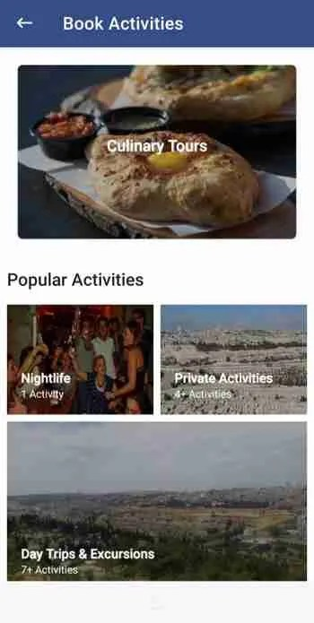 Book activities on Travel Israel by Travelkosh