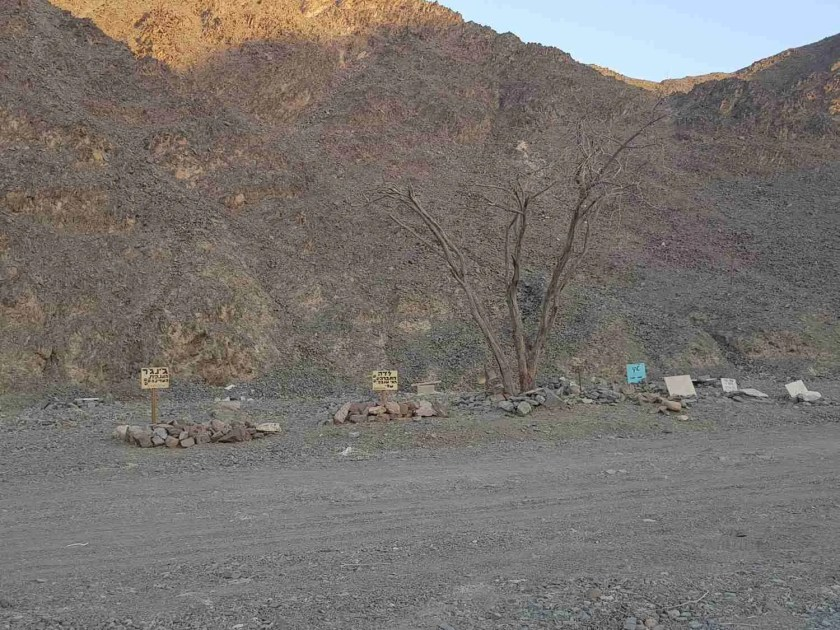 Dog cemetery in the Eilat Mountains
