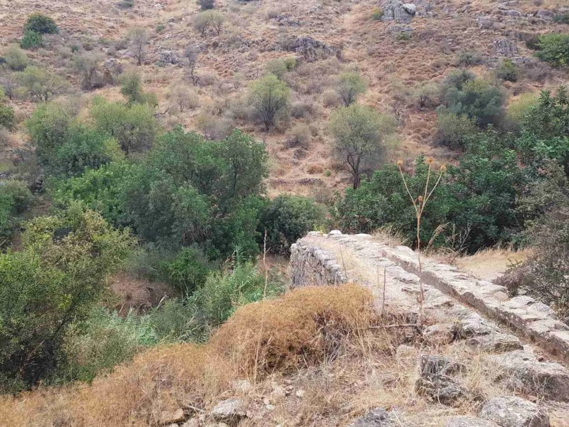 Ancient ruins in Nahal Amud