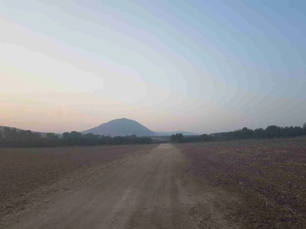 Mount Tabor in the distance on the Israel National Trail