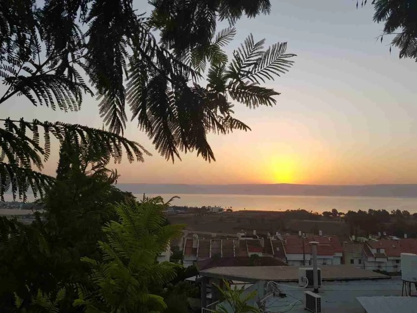 Sunset over the Sea of Galilee