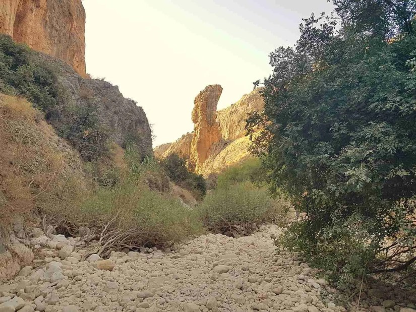 The Amud of Nahal Amud on the Israel National Trail
