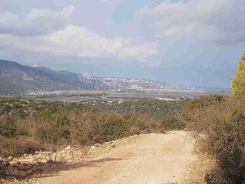 Haifa in the distance