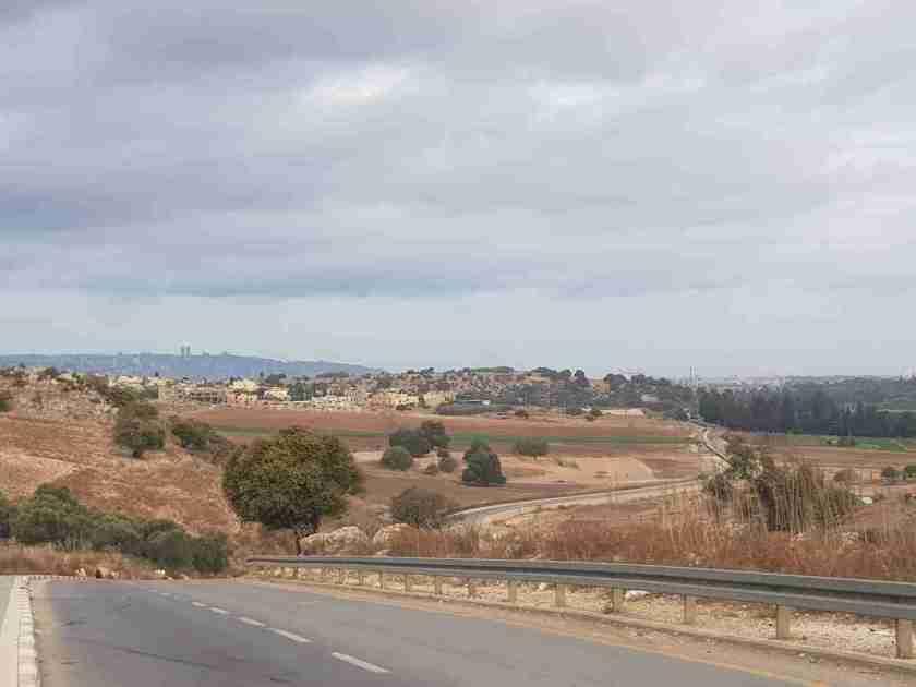 Mount Carmel in the distance
